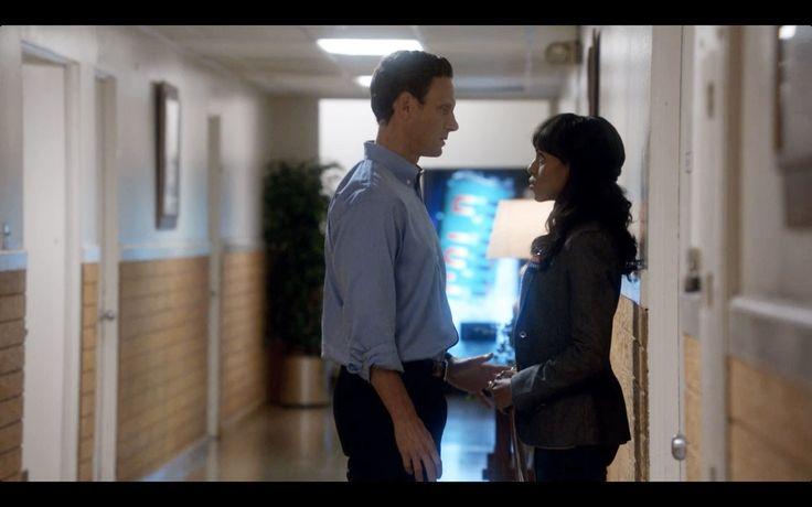 """Fitz flirts with Olivia openly at her desk. They retreat to the hall for privacy until Fitz's wife, Mellie, interrupts. (S1E6) """"I'm married and I'm running for president and I can't. But just stand here with me for one minute. Let's not go back in there or talk or think. For one minute we just stand here and I'm not the candidate and you're not the campaign fixer. We're just us. For one minute just stand here."""" —Fitz Status: Not Together."""