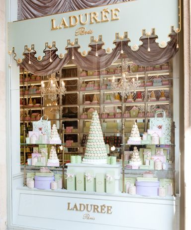 The most beautiful sweet shop window in the world - n'est-ce pas? Ladurée chocolate in Beirut, Lebanon