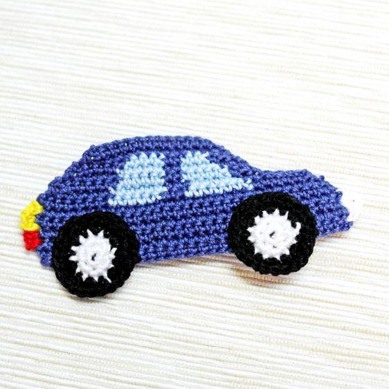 Örgü Aplike Modeli Araba Yapılışı