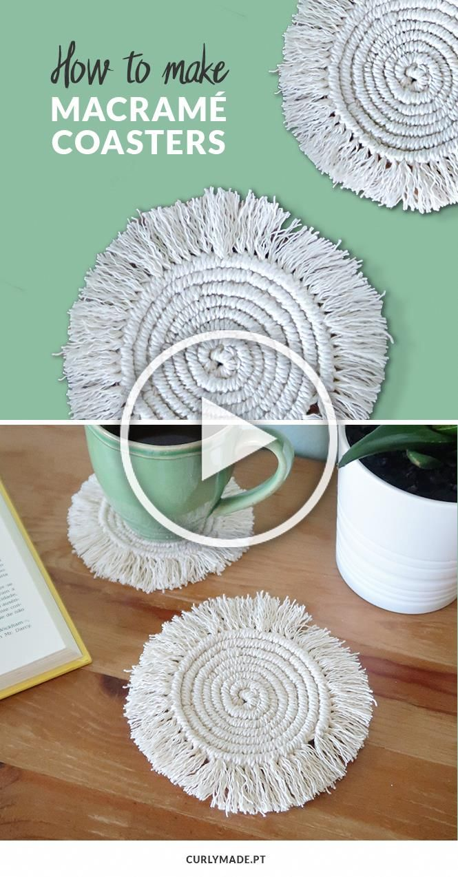 How To Make Round Macrame Coasters Curly Made Macame Coaster