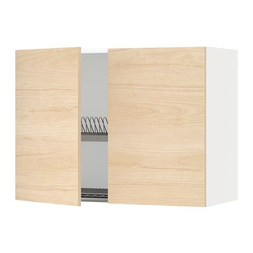 Best Metod Wall Cabinet W Dish Drainer 2 Doors White Askersund 640 x 480