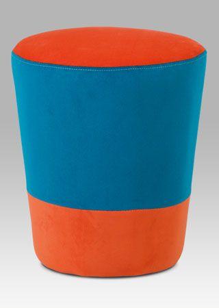TAB-106 ORA2 Moderní taburet v oblíbených barvách, který bude ozdobou každého moderního interiéru či dětského pokoje. Nosnost tohoto taburetu je do 80 kg.