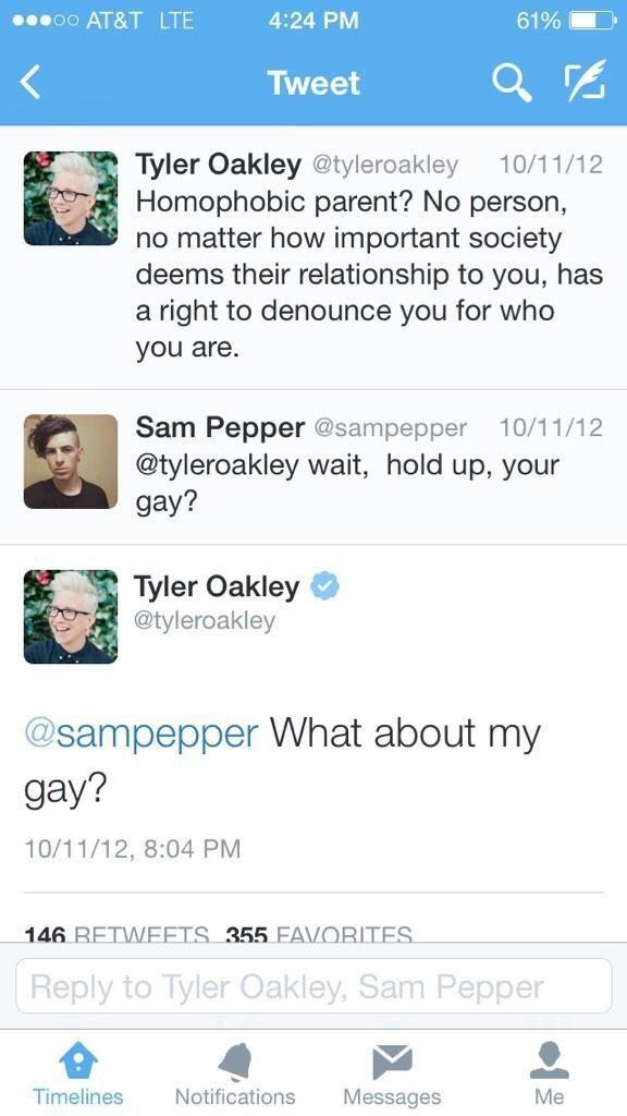 tyler oakley tweets - Google Search