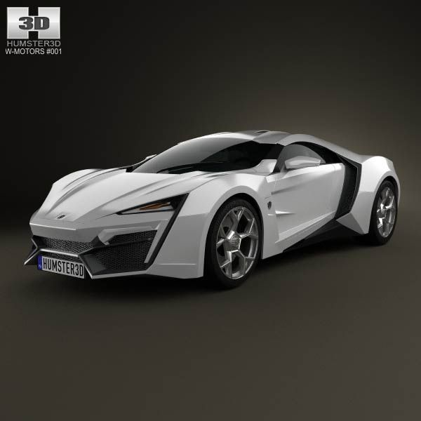 2014 Cadillac Elr Interior: W Motors Lykan HyperSport 2012 3D Model
