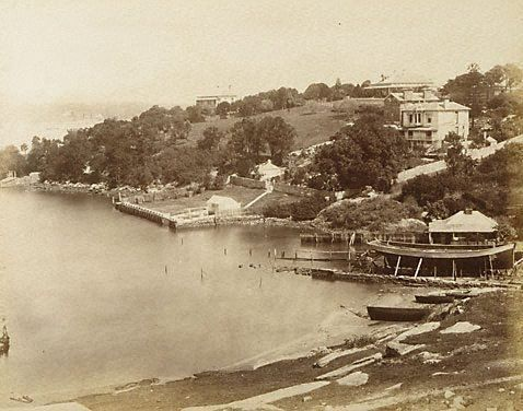 An image of Balmain, Sydney by attrib. Beaufoy Merlin, American and Australasian Photographic Co, 1875. N.S.W History Balmain NSW