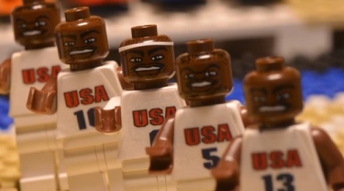 USA Vs France Basketball Match Reconstructed In Stop Motion LEGO Video