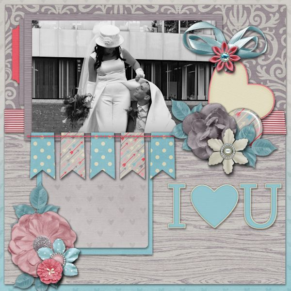 Love U - digital scrapbook layout. Credits: I Heart You Grab Bag by Laurie's Scraps & Designs template by Miss Fish Templates at Gingerscraps Love and Valentine theme http://store.gingerscraps.net/I-Heart-You-GrabBag.html