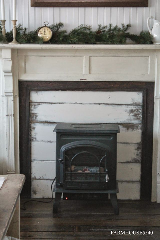 Hand Made Presents Part Two Farmhouse 5540 Bloglovin Faux Fireplace Faux Fireplace Mantels Fireplace Heater Electric fireplace heater with mantle