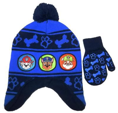 a29e941e7 Nickelodeon PAW Patrol Toddler Girls or Boys Knit Hat and Mitten Set ...
