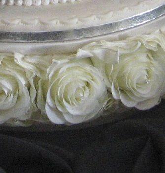Черно белый торт свадебный