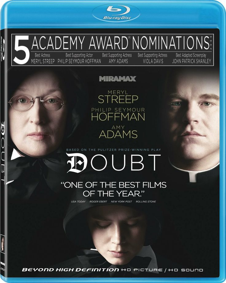 Doubt (2008) ($5.74) - Without wishing to reveal too much, the film ends with much doubt still remaining. - Amazing performances by Meryl Streep, Phillip Seymour Hoffman, Any Adams and Viola Davis. - This is a film about faith, as it pertains to the catholic church. http://www.amazon.com/exec/obidos/ASIN/B004SIP73U/hpb2-20/ASIN/B004SIP73U