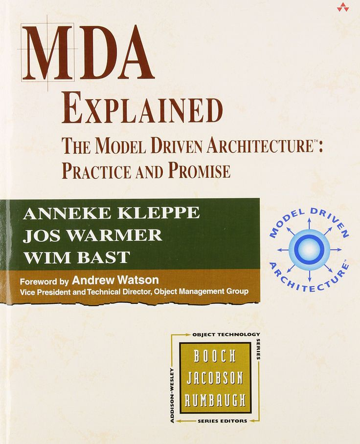MDA explained: the model driven architecture: Practice and Promise / Anneke Kleppe, Jos Warmer, Wim Bast. 2003.