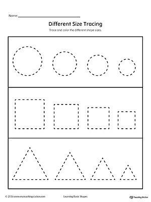 learning basic shapes color trace and connect worksheets kindergarten prep and shapes. Black Bedroom Furniture Sets. Home Design Ideas