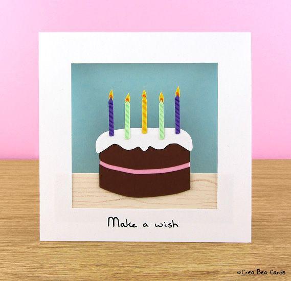 Diy Chocolate Birthday Cake Card With Images Birthday Cake Card