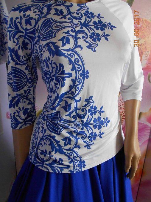 Blue & Beige folk - tričko s potlačou I.