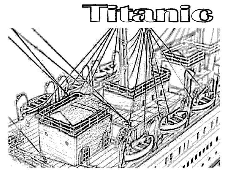 18 best images about coloring pages lineart titanic on for Titanic coloring book pages