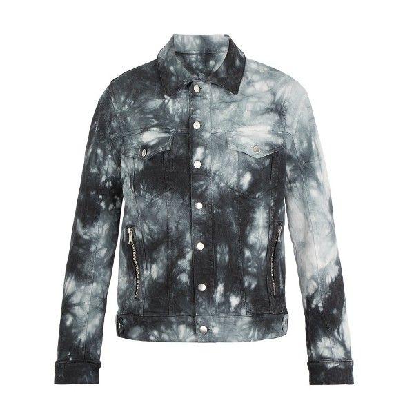 Balmain Tie-dye effect denim jacket (2,158,810 KRW) ❤ liked on Polyvore featuring men's fashion, men's clothing, men's outerwear, men's jackets, blue multi, mens zip jacket, balmain mens jacket, mens blue jacket, mens zipper jacket and mens blue jean jacket