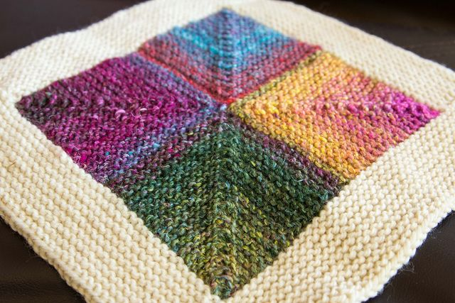 Knitting Techniques Uk : Mitered square squares blanket and crochet