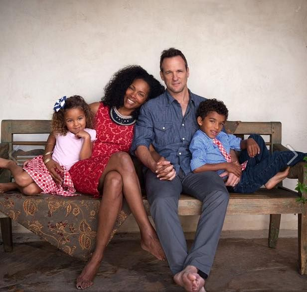 Sam Keating (from How To Get Away With Murder) and family. Interracial couple with biracial children. Family love. Love.
