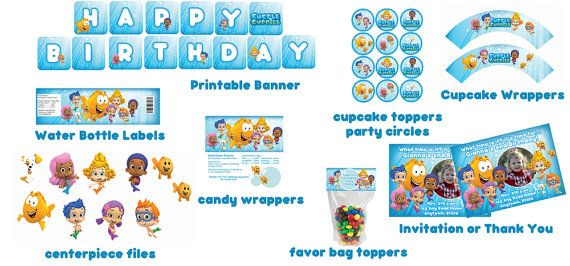 Bubble Guppies Birthday Party Package