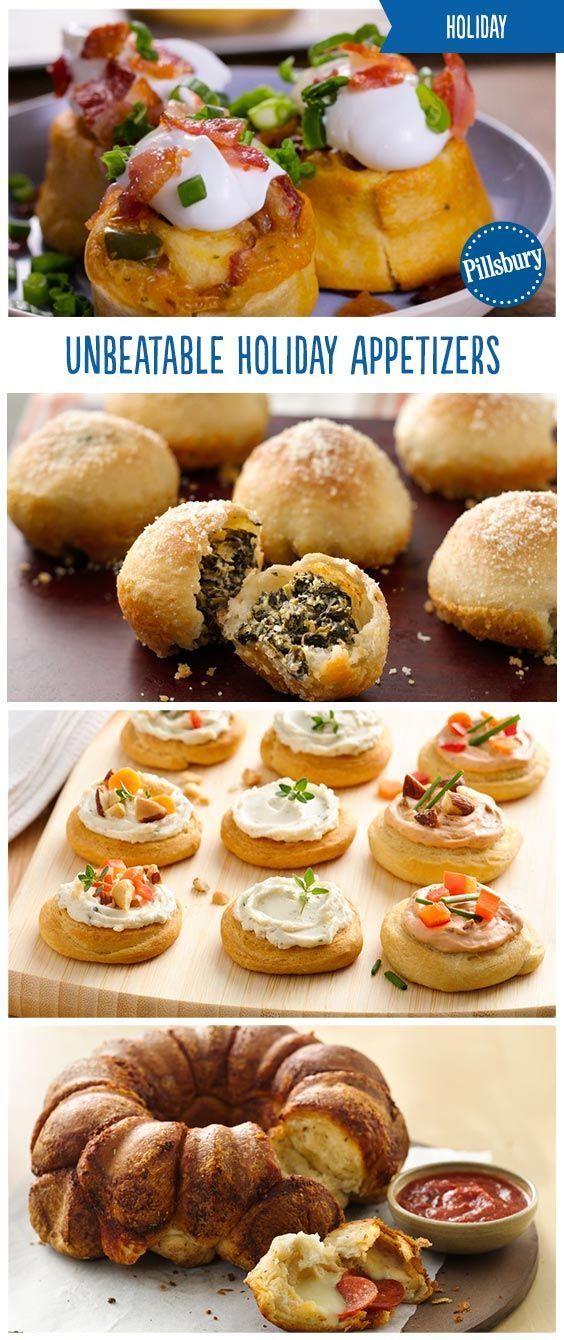 50 easy holiday appetizers to please all your guests! From pinwheels to pizza to e