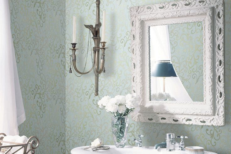 Brewster wall covering, beautiful pattern