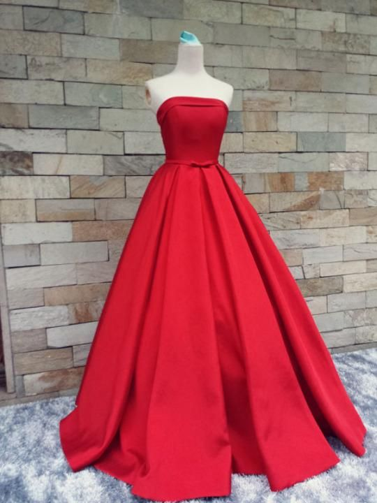 Elegant 2015 Evening Dresses Long Red Formal Gowns Strapless Ball Gowns Stain Dress Evening Wear Formal Dress for Wedding Plus Size J114 Online with $141.37/Piece on Caradress's Store | DHgate.com