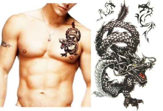 Temporary Tattoo Sleeve  Dragon Tattoo Arm Sleeve by MyBodiArt
