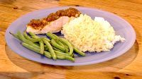 Thermomix All-in-One Salmon Tikka Dinner with Steamed Rice and Green Beans