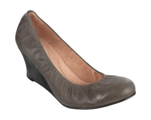 2.5 Wedge Pump Charcoal Washed Leather - Pediped AT, DE