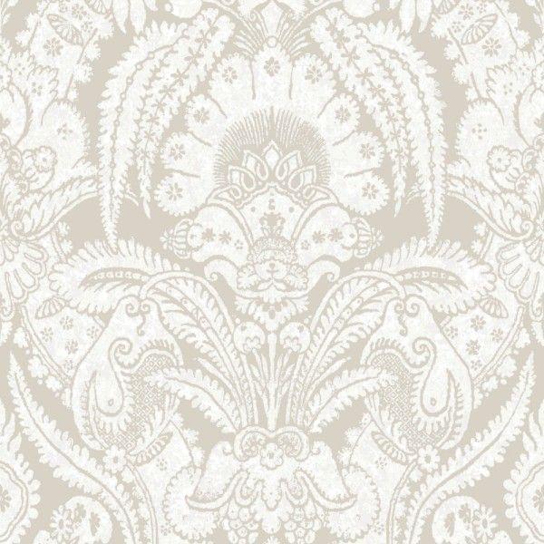 Papier peint gris damas extra large Chatterton - Cole and Son - Au fil des Couleurs damask wallpaper 2008