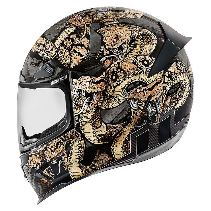 Cottonmouth - Gold | Helmets | Icon Motosports - Ride Among Us