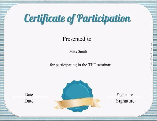 Best 25+ Certificate of participation template ideas on Pinterest - Award Certificate Template Word