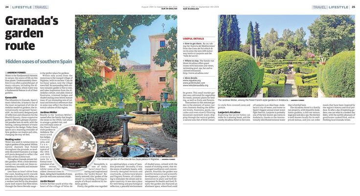 Granada's Garden Route – the hidden Al Andalus Gardens of Southern Spain - travel feature by Andrew Forbes www.andrewforbes.com #luxurytravelpursuits #luxestyletravel
