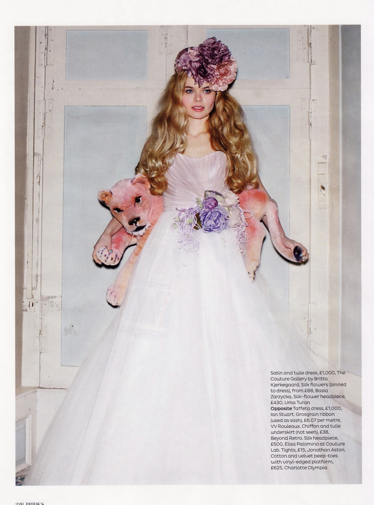 Brides Magazine May/June 2012 featuring a gown by The Couture Gallery designer Britta Kjerkegaard