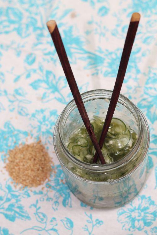 Cucumber Sonomono (pickled cucumber salad)