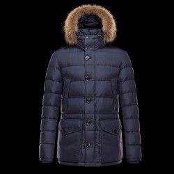Moncler Cluny Parka Erkek Mavi #Moncler #MonclerMont #fashion #winter