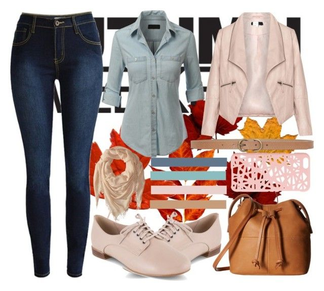Fall is here by slytheriner on Polyvore featuring LE3NO, Zizzi, Clarks, ECCO, Chan Luu, Miss Selfridge and Max Studio