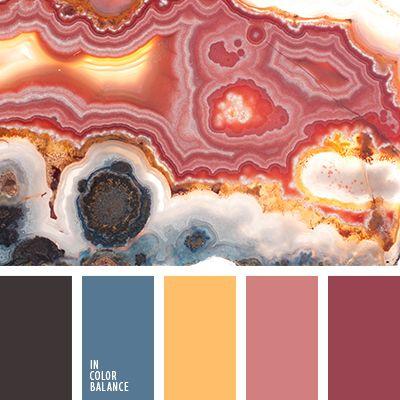 бордовый цвет, коричневый и серый, малиновый, малиновый цвет, оранжевый, оттенки розового, серо-синий, темно розовый, цвет асфальта, цвет золота, цвет камня, цвет кристаллов, цвет малины, яркий малиновый цвет.