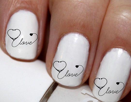 20 pc Nurse RN Nurse Love A Nurse Nail Art Nail Decals Nail Stickers Lowest Price On Etsy #cg51na