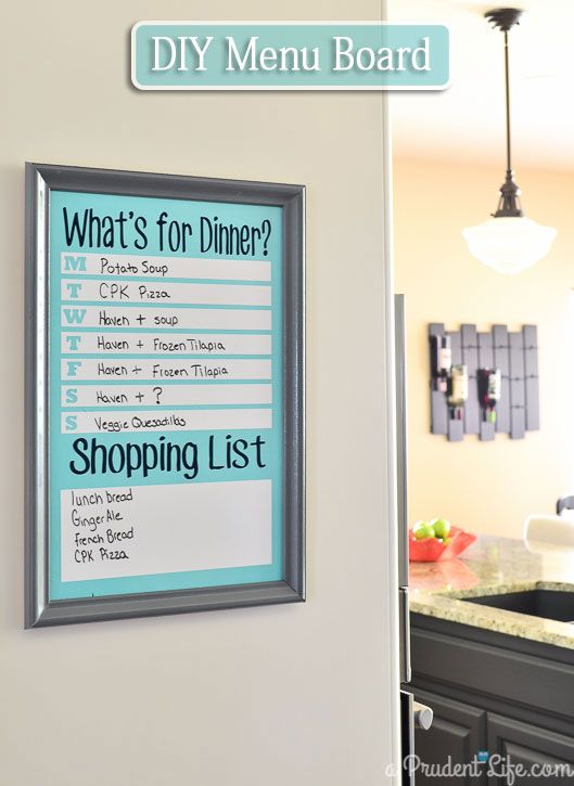 Save time and money with a DIY meal planning board made from dry erase vinyl - full tutorial!