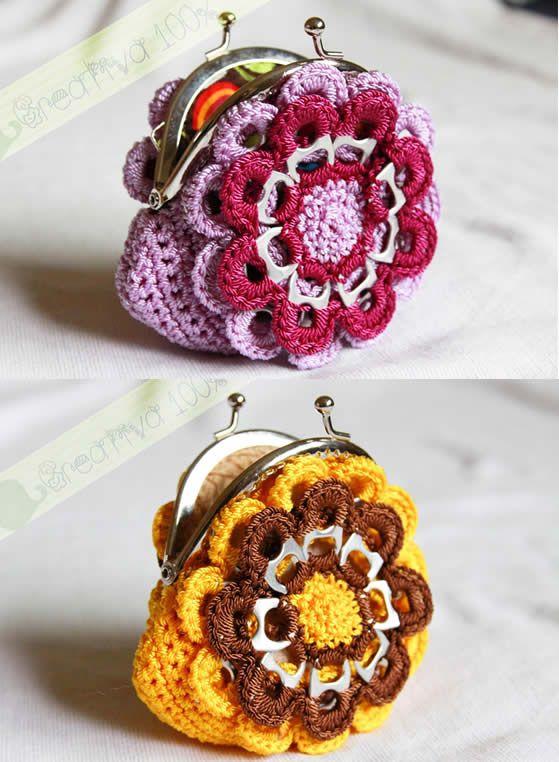 Como fazer bolsa de crochê com lacre de latinha - Artesanato Brasil