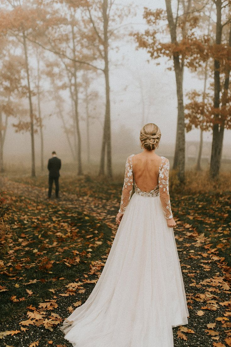 Hadley and Mike's November Marriage ceremony at Beech Hill Barn