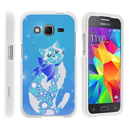 Buy Samsung Galaxy Core Prime, Hard Snap On Protective Cover with Creative Graphic Image for Samsung Galaxy Core Prime G360 (Boost Mobile) from MINITURTLE | Includes Clear Screen Protector and Stylus Pen - Classy Cat NEW for 9.99 USD | Reusell