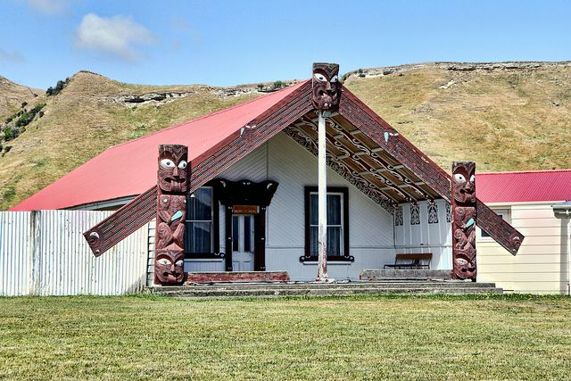 Whitikaupeka  Wharenui,  Moawhango, New Zealand