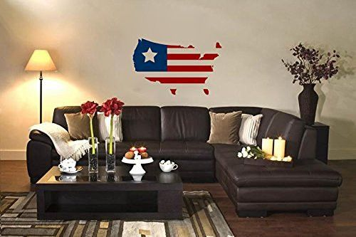 Americana American Flag Stripes Vinyl Wall Decal Sticker Graphic