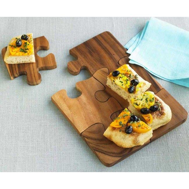 cool cutting board serving tray dessert plate set for. Black Bedroom Furniture Sets. Home Design Ideas