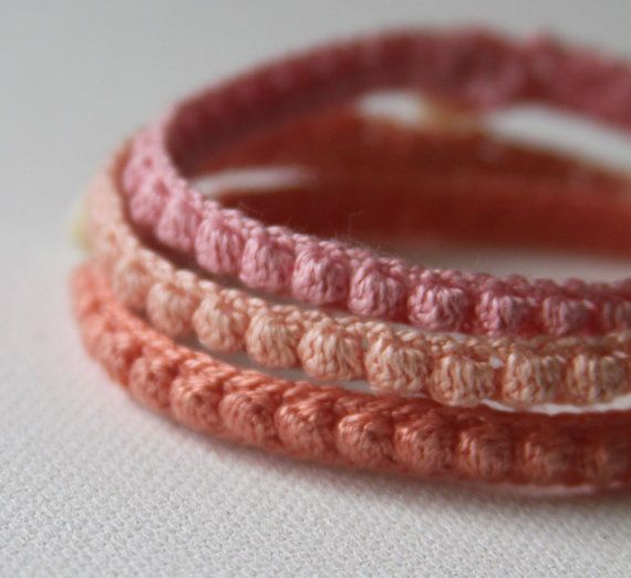 This is an adaptable crochet pattern that you can use to make a variety of bracelets. Use fine crochet thread or pearl cotton for delicate