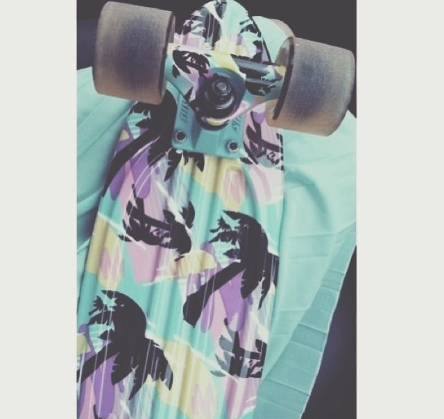 Tropical penny board