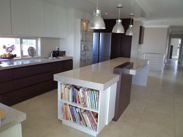 Modern white painted kitchen combined with Wenge veneer